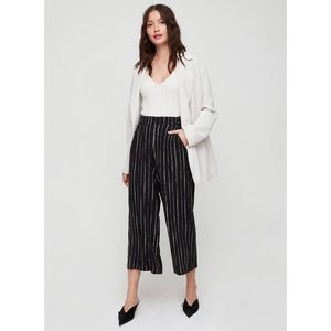 Aritzia Wilfred Faun Pants - wide leg, relaxed fit